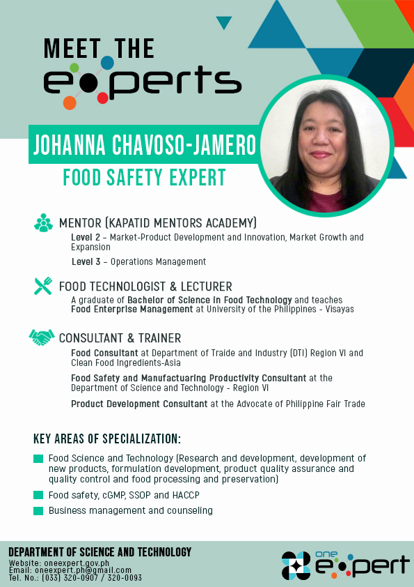 Expert in Food Safety: Jamero