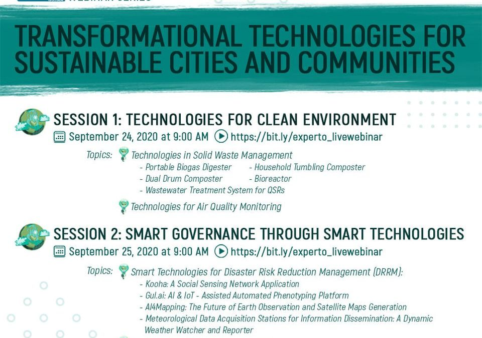 Transformational Technologies For Sustainable Cities And Communities Session 2: Smart Governance through Smart Technologies