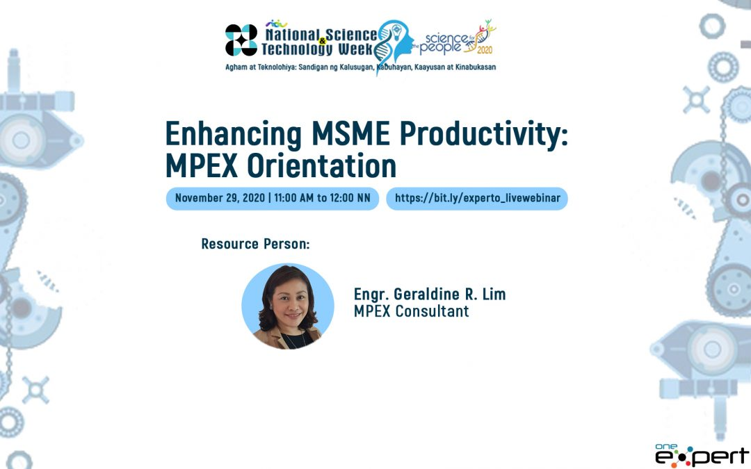 Enhancing MSME Productivity: MPEX Orientation
