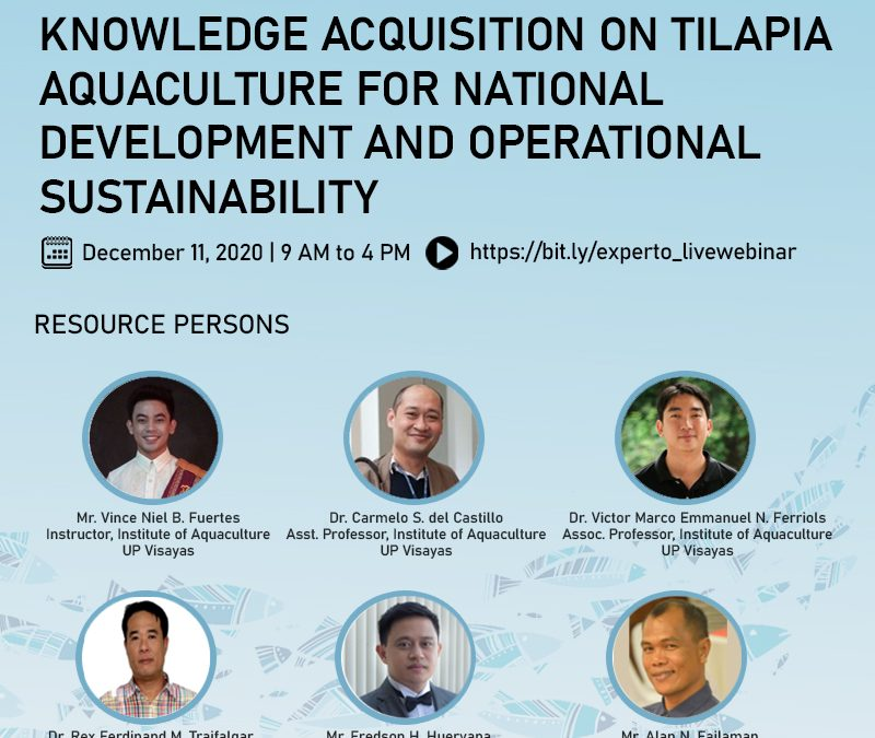 Knowledge Acquisition on Tilapia Aquaculture for National Development and Operational Sustainability