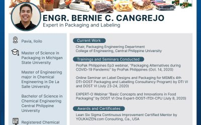 Expert on Packaging and Labeling: Engr. Bernie C. Cangrejo